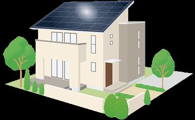 住宅用太陽光発電設備の取付