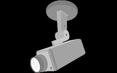 防犯監視カメラの取付